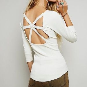 Free People Cross Cross Tee